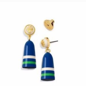 "TORY BURCH ""BLUE BUOY"" EARRINGS $95 BRAND BNWT❣️💙"